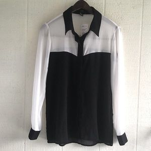 Beautiful Chanel style black and white blouse